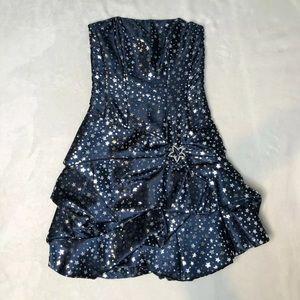 Gunne Sax Blue Star Strapless Dress Size 1 Prom